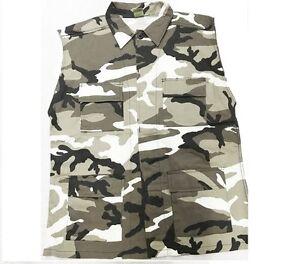 Vest Sleeveless Shirt 4 Pockets Lightweight Urban Camo Sizes M,L,XL,2X,3X,