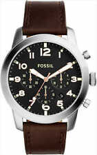 Fossil 'Pilot 54' Chrono Brown Brown Distressed-Leather Strap Men's Watch FS5143