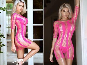 Bodysuit Body Stocking Lingerie Mesh Fishnet Garter Sexy Stretch ONE SIZE 237