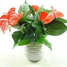 1bunch Artificial Flower Fake Anthurium Bouquet Wedding Christmas Home Decor
