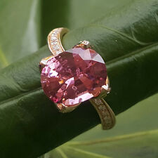 Pink Spinell Brillant Ring 750er-Gold 0.28 ct 3.21 ct TOPSTEIN SW ca. 6760.-Euro