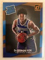 De'Aaron Fox 2017-18 Donruss RATED Rookie RC #168 Sacramento Kings