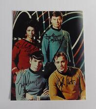 Star Trek Original Series Photo Autograph Signed Shatner Nimoy Kelly Nichols COA