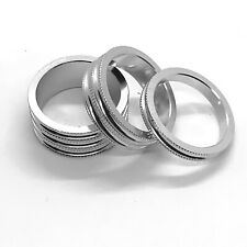 Token 1 1/8 Inch Alloy Headset Spacers - Silver Anodized - 15mm / 10mm / 5mm