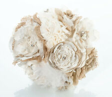 Burlap and Flower Rustic Wedding Bouquet