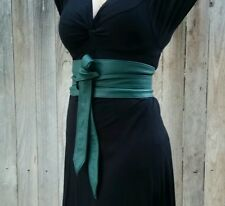 Obi green leather belt wrap wide belt Obi belt sash belts tie belts