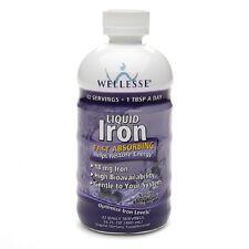 Wellesse Iron Supplement Liquid 16oz 371401923169