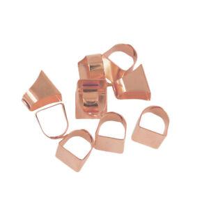 10x Verstellbar Ring Bezel Fingerring-Basis Fassung Cabochon Halter-Rotgold