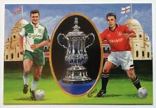 1996 FA Cup Final Dawn Cover Postcard Manchester United v Liverpool