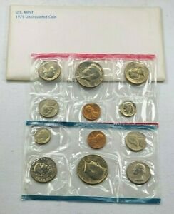 1979 US Mint P D Uncirculated 12 Coin Set ☆1 Set from Lot☆