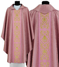 Rose Kasel Messgewand Priestergewand Casula Chasuble Vestment  674-R25