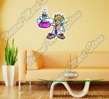 Science Inventor Boy Student Lab Experiment Wall Sticker Room Interior Decor 22""