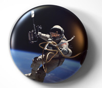 Ed White First Spacewalk NASA Gemini - pin pinback button