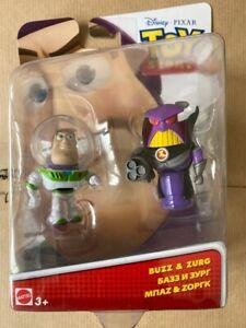 Disney Pixar Toy Story Buzz & Zurg 2-Pack Mini Figures Set Mattel 2015 New