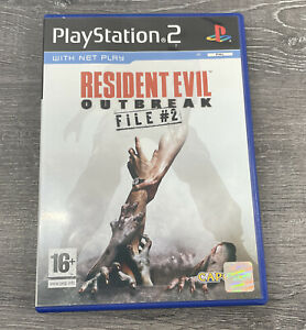 RESIDENT EVIL OUTBREAK FILE #2 PLAYSTATION 2 GAME WITH MANUAL