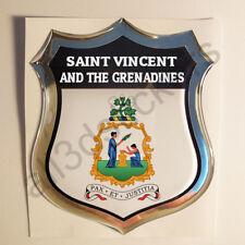 Pegatina San Vicente y las Granadinas Escudo de Armas 3D Emblema Vinilo Adhesivo