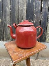 Vintage Retro Poland Catering enamel tea pot