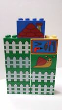 Set of 9 Pieces of Printed Duplo 2X4X4 pieces Picket Fence Snail Tools Lego