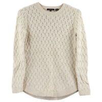 Jeanne Pierre Women's Cable Knit Sweater, XX-Large, Light Beige Heather