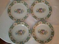 "SET OF 4 Antique Reflections DINNER PLATES 10.5"" by J. GODINGER Floral Plate"