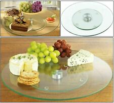 Lazy Susan Tempered Glass Rotating Turntable Serving Plate Tray Cake Decorating