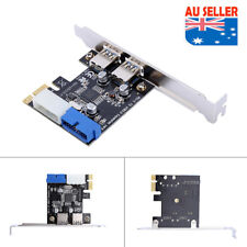PCI-E To USB3.0 Expansion Card Adapter With Front 19PIN Interface Chip Expansion