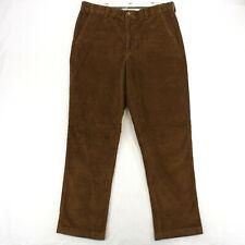 LL BEAN COMFORT WAIST LIGHT BROWN FLAT FRONT CORDUROY CHINOS PANTS MEN'S 35 X 32