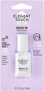 Elegant Touch Brush On Nail Glue Clear 6ml