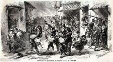 PALERMO: Incendio Quartiere del Palazzo Reale.Ruberie,Repressione Borbonica.1860