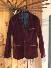Unisex jacket. Red velvet.