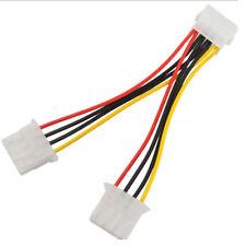 4 pin Molex macho a hembra de 2 X 4 Pin Molex Y Splitter Cable para sistema de construcción