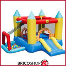 Gioco Gonfiabile Castello Saltarello Scivolo per Bambini Pompa Motore Gigante