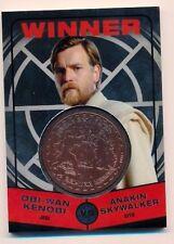 Star Wars Chrome Jedi vs Sith Bronze Medallion Winner Obi-Wan vs Anakin