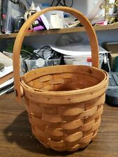 Longaberger™ Small Round Basket with Swing Handle 5� x 6� ~ Signed 1990