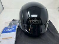HJC IS-CRUISER GLOSS BLACK MOTORCYCLE HELMET LARGE