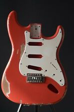 AYC | Strat Style Body collodion Fiesta Red Aged Incl. P & T.