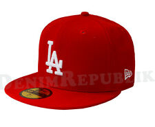 LOS ANGELES DODGERS Scarlet White New Era 5950 MLB Baseball Cap fitted Red LA