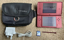 Nintendo DSi XL Burgundy Handheld System with charger, 4gb Card stylus
