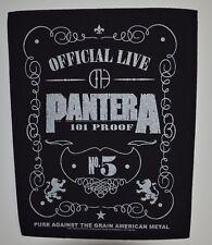 PANTERA - 101% Proof-Back Patch - 30 CM x 36,3 cm - 164611