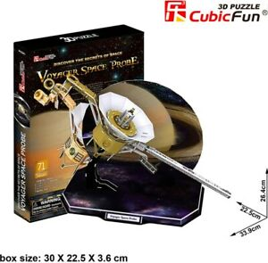 CUBIC FUN 71pcs NASA Voyager Space Probe 3D Puzzle DIY Model Building Kit Toy