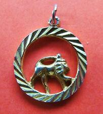 MEDAILLE PENDENTIF  du SIGNE ZODIAQUE LION en métal doré
