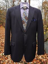 "BOSS HUGO BOSS BLAZER & A TIE 42R 50"" CHEST NAVY BLUE 2 BUTTONS 2 VENTS TURKISH"