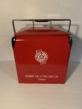 Canadian Tire Limited Red Steel Mini Cooler - Mint Condition