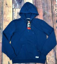 Fila Blue Mens Fleece Hoodie Sweatshirt Pullover Size M