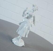 Rosenthal Porzellan Figur Classic Rose Collection Frau mit Vogel Hugo Meisel RAR