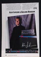 1988 Alex Lifeson Gallien Krueger 2100SEL stereo guitar amplifier photo print Ad