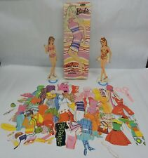 Vtg 1967 Whitman Barbie 2 Magic Dolls W/Mod Stay On Clothes Set In Original Box