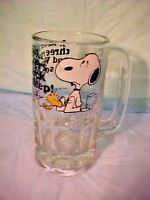 VINTAGE Snoopy Woodstock Root Beer Mug 1958 - 1965 United Feature Syndicate Inc
