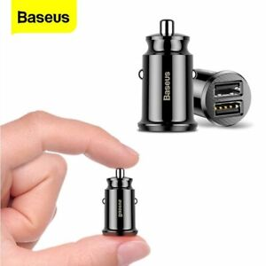 Baseus Mini Car Charger 3.1A Dual USB Power Adapter for iPhone 12 Samsung S20