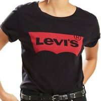 Women's T- Shirt Levi's The Perfect Graphic Tee - Large Batwing Black